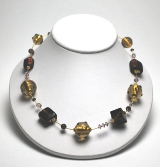 Verona Necklace Amethyst/Gold