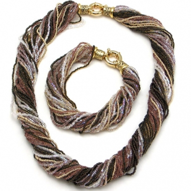 Ricciolo Taupe Necklace