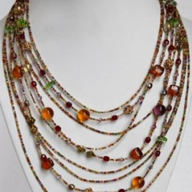 Murano Glass Waterfall Necklace