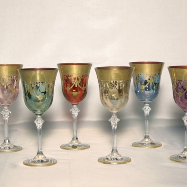 Venetian Medici Collection Water Goblets ( set of 6)