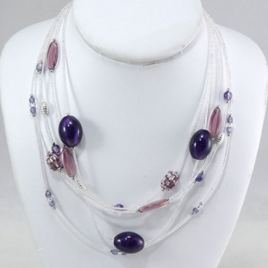 Cascade Necklace Amethyst