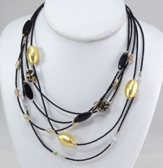 Cascade Necklace Black