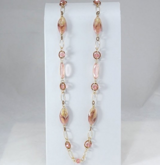Mulinello Long Necklace Pink