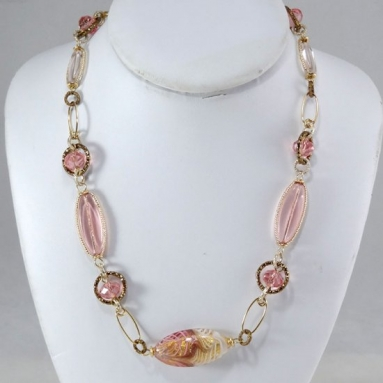Mulinello Short Necklace Pink