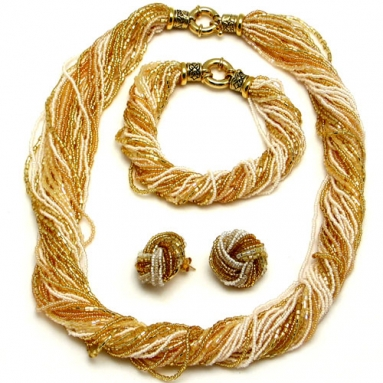 Ricciolo Gold and white Necklace