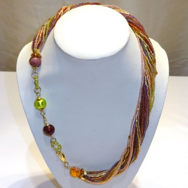 Ricciolo and Beads Multicolor Necklace
