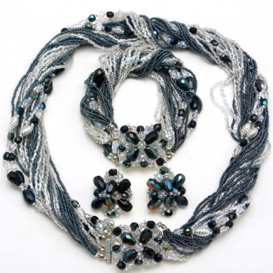 Ricciolo and Jewel Silver Necklace