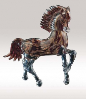 Murano Glass Aventurine/Red Horse