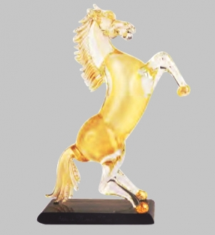 Murano Glass Gold Horse