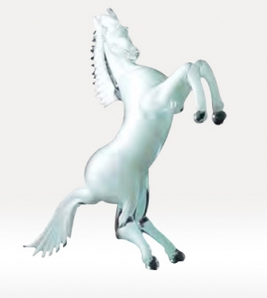 Murano Glass White Horse