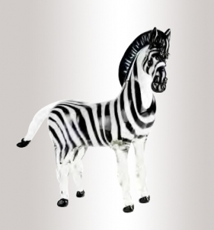 Murano Glass Zebra