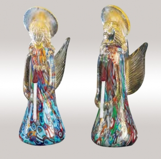 Murrine Glass Angel Colorfull assortment