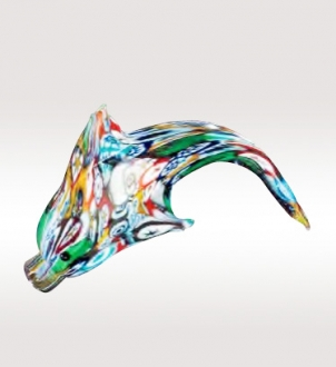 Murrine Glass Dolphin