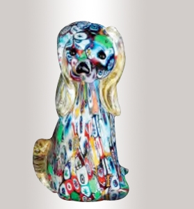 Murrine Glass Multicolor Dog