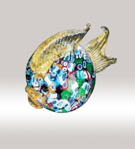 Murrine Glass Multicolor Fish