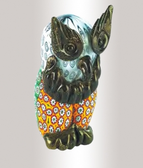 Murrine Glass Owl