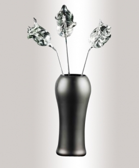 Murano Glass Mat Black Vase