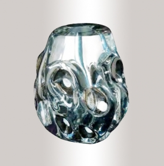 Murano Glass Silver/Black/Gold Vase