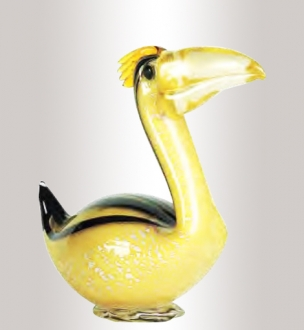 Murano Glass Gold/Amber/Black Pelican