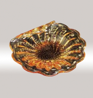 Murano Glass Amber/Gold Centerpiece