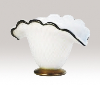Murano Glass White/Black/Gold Bowl