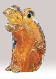 Murano Glass Frog Gold
