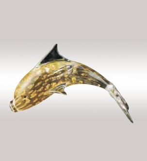 Murano Glass Gold Dolphin