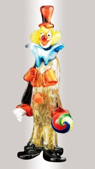 Murano Glass Clown With Ball