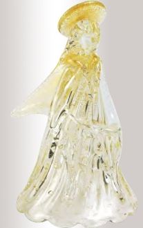 Murano Glass Crystal/Gold Angel