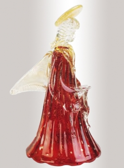 Murano Glass Red/Gold Angel