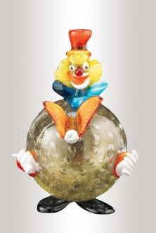 Murano Glass Round Clown Multicolor