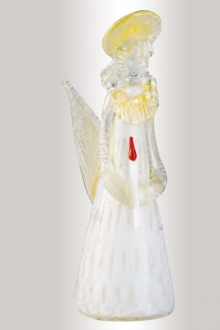 Murano Glass White/Gold Angel