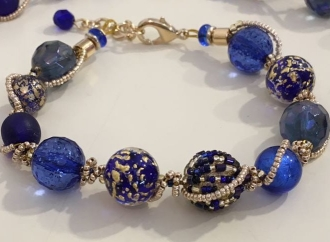 Mara Murano Glass Bracelet Blue
