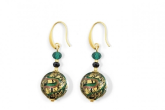 Murano Glass Earrings Turquoise/Green