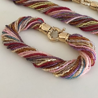 Murano Glass Twist Bracelet Multi