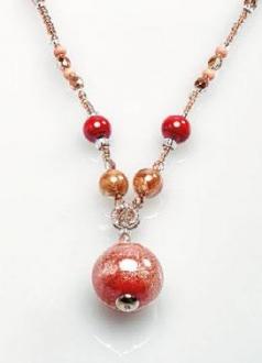 Murano glass bead necklace long murano glass jewelry murano murano glass necklace aloadofball Choice Image