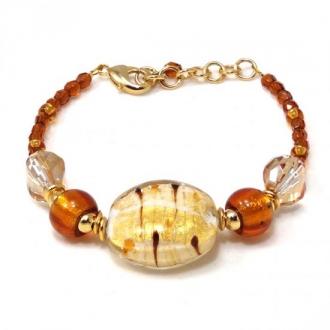 Murano Gl Bracelet Amber