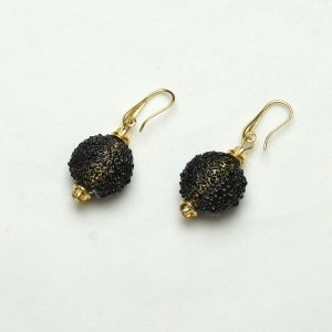 Murano Glass Earrings Black