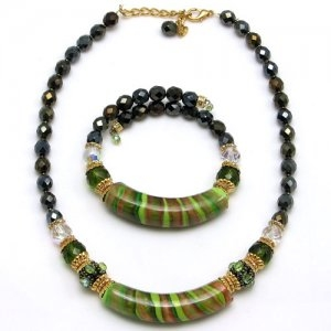 Arkadia murano Glass Necklace Green