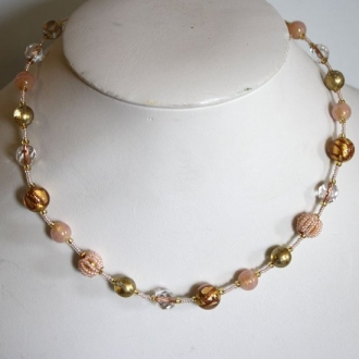 Elegant  Necklace Pink