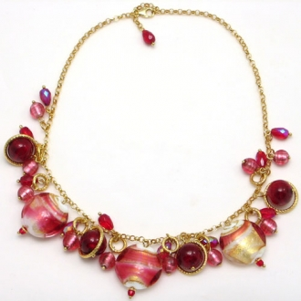 Charm Necklace Red