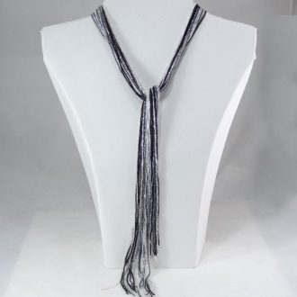 Magnificent  Necklace Silver-Black