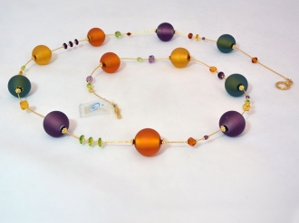 Multicolor murano glass  necklace