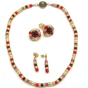 Murano Glass Classic Necklace Red