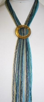 Necklace with hues of Blue
