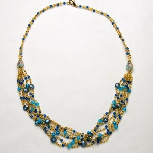 Royal Murano Glass Necklace Long Turquoise