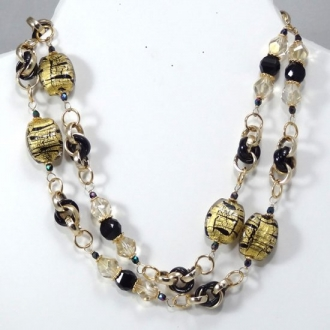 Vintage Murano glass beads Necklace - Black