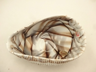 Mignon ivory and chocolate shell centerpiece