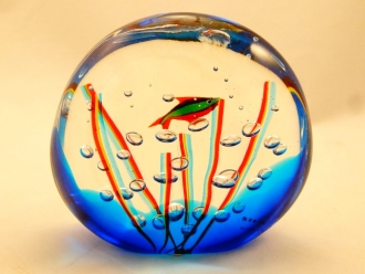Murano Glass Small Acquarium with one fish