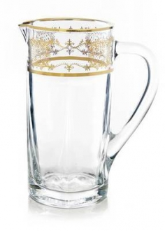 9 Pitcher with 14k Gold Artwork